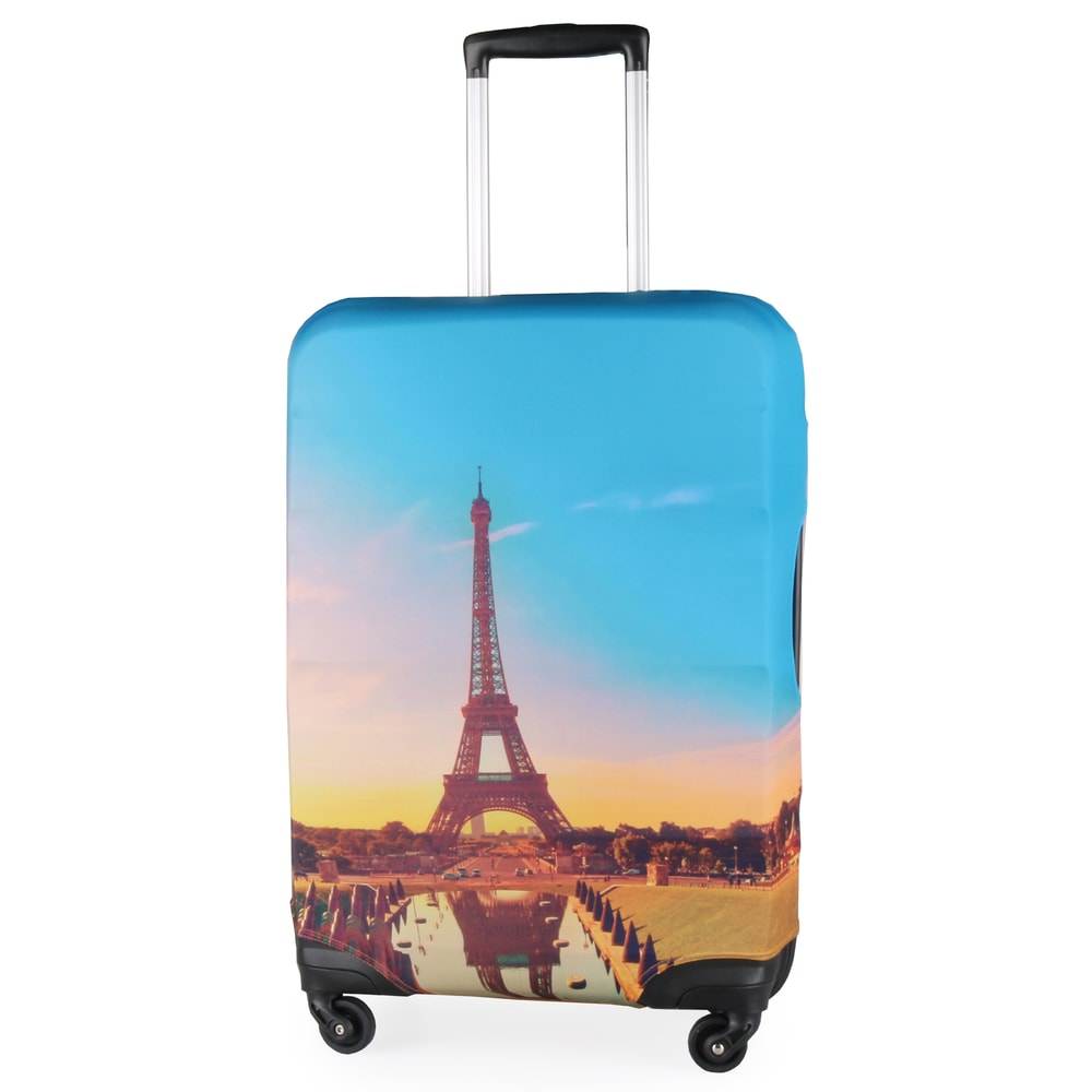Snowball Ochranný obal na kufr F88030 vel. M - Paris Eiffel Tower