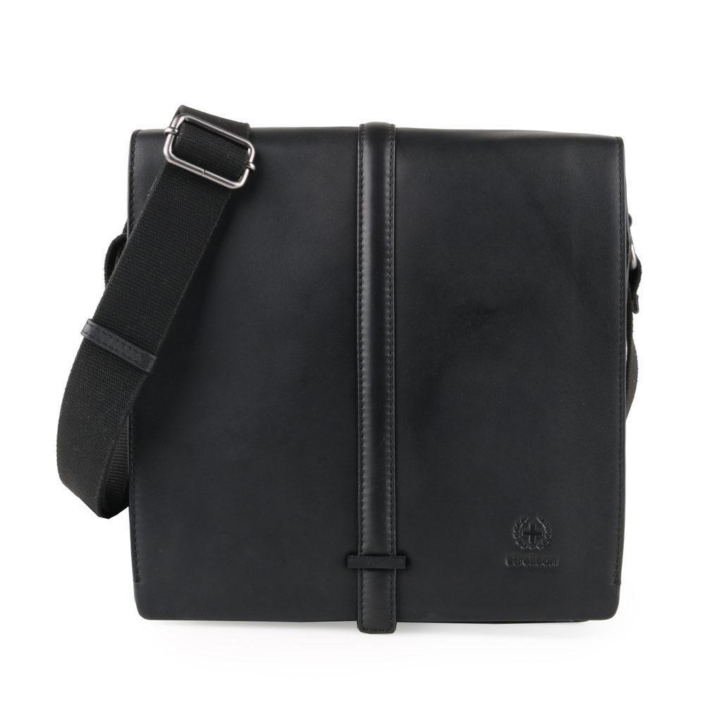 Strellson Pánská kožená taška přes rameno Bakerloo 4010002863 - černá