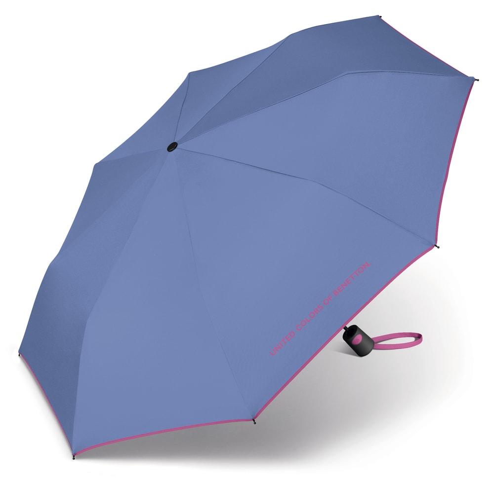 United Colors of Benetton Skládací poloautomatický deštník 56600 - fialová
