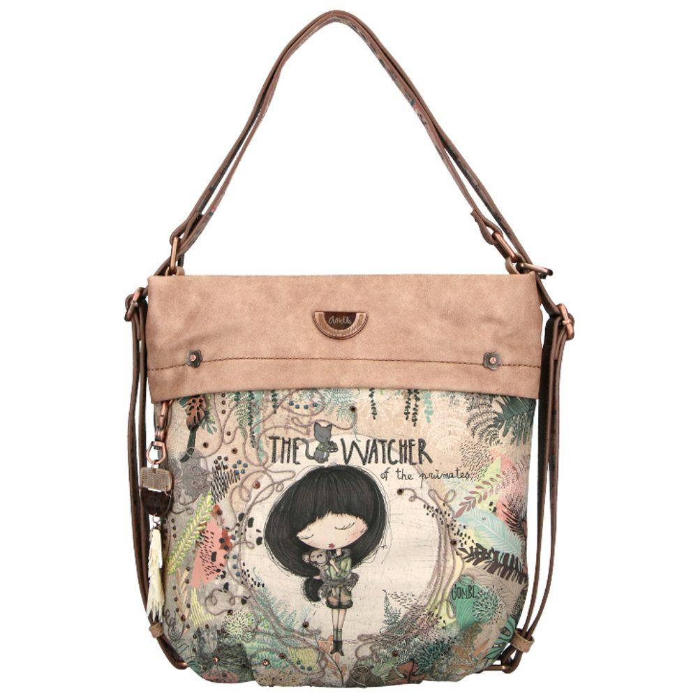 Anekke Dámská kabelka přes rameno a batoh 2v1 Jungle 30712-118