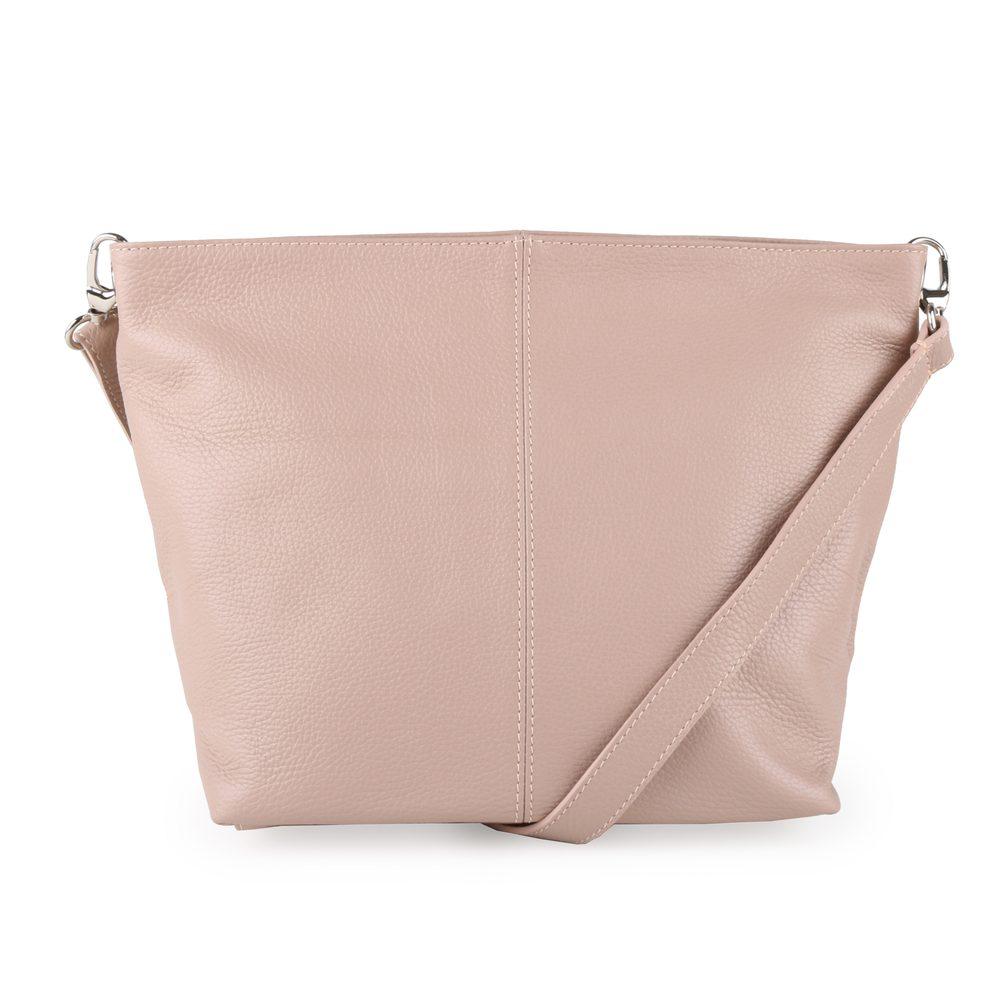 Unidax Dámská kožená kabelka přes rameno 3147 - béžová