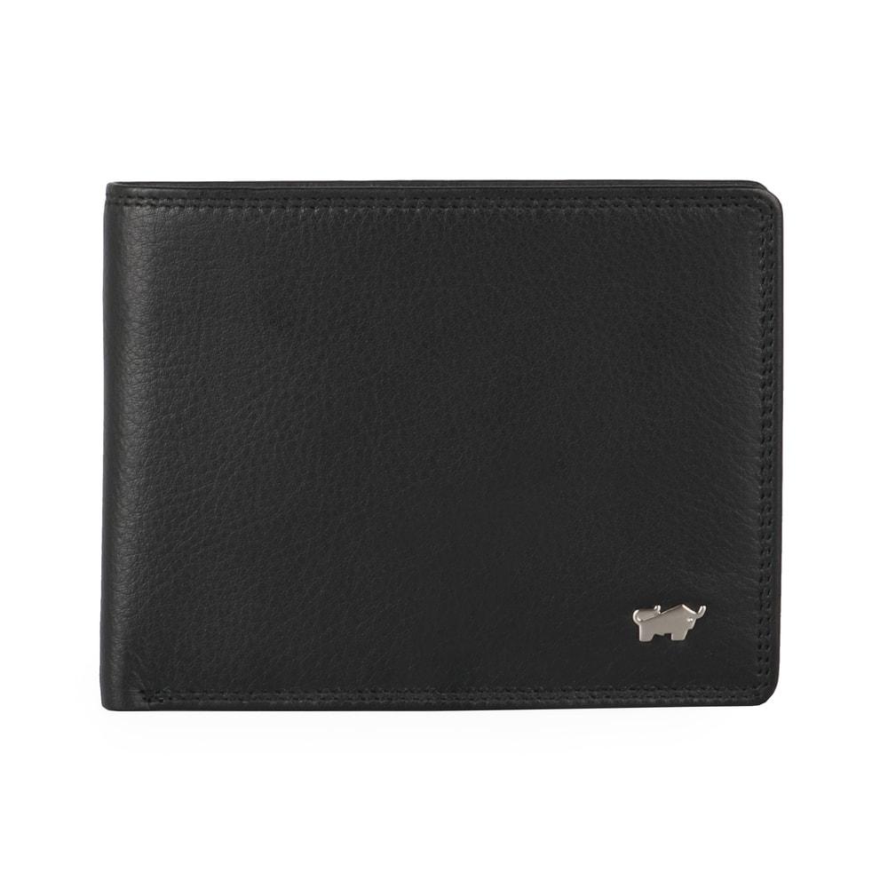 Braun Büffel Pánská kožená peněženka Golf 2.0 90034-051 - černá