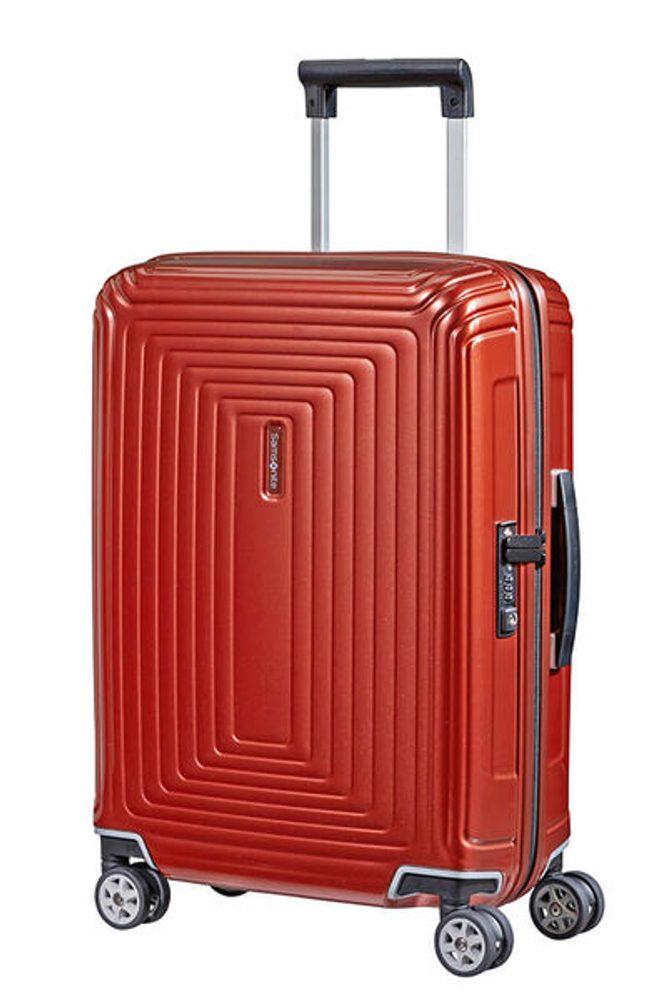Samsonite Kabinový cestovní kufr Neopulse Spinner 38 l - lesklá červená