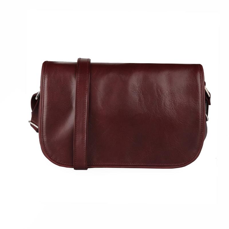 Sněžka Náchod Dámská kožená kabelka přes rameno 4982 - rubín vínová