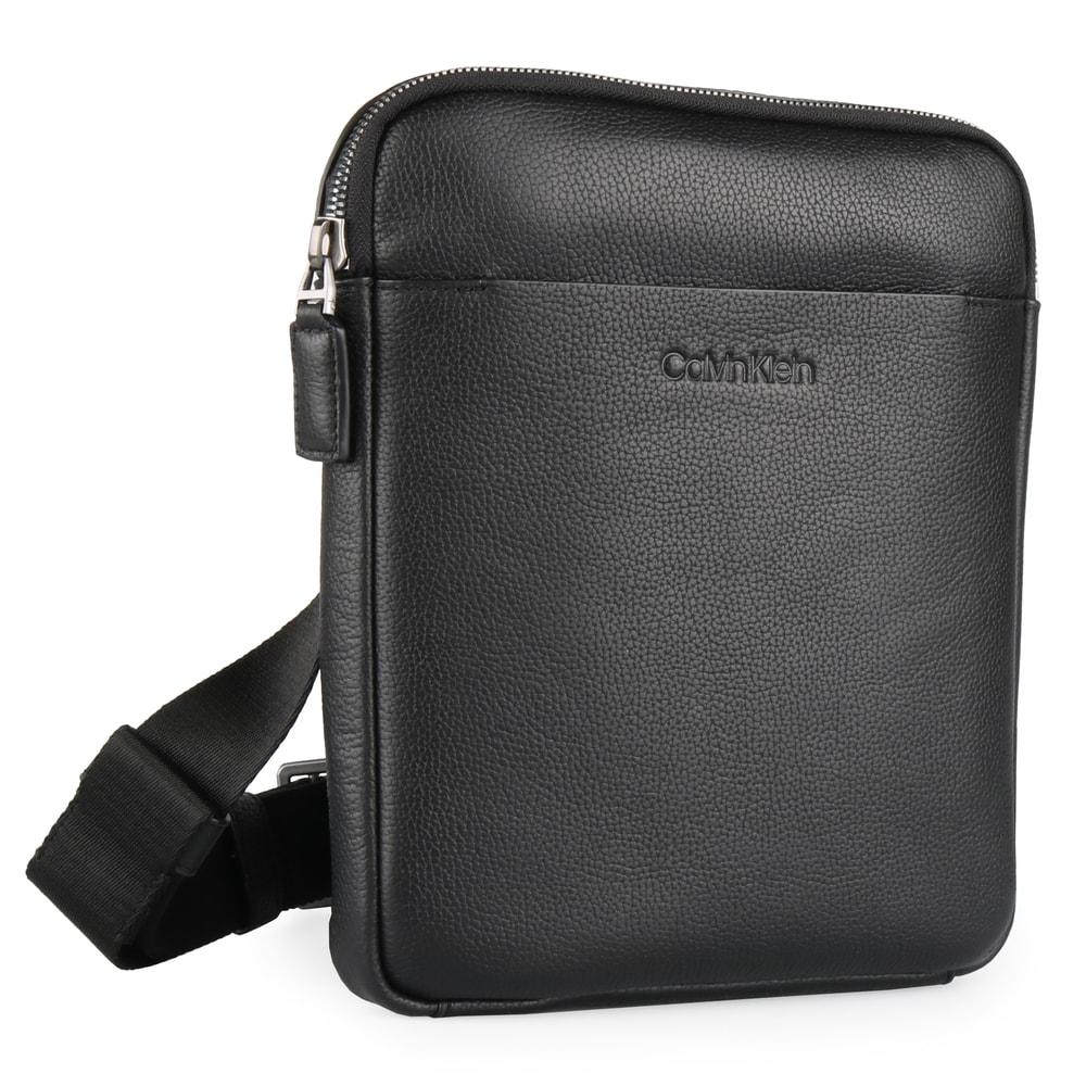 Calvin Klein Pánská kožená taška přes rameno iPad Crossover K50K504350