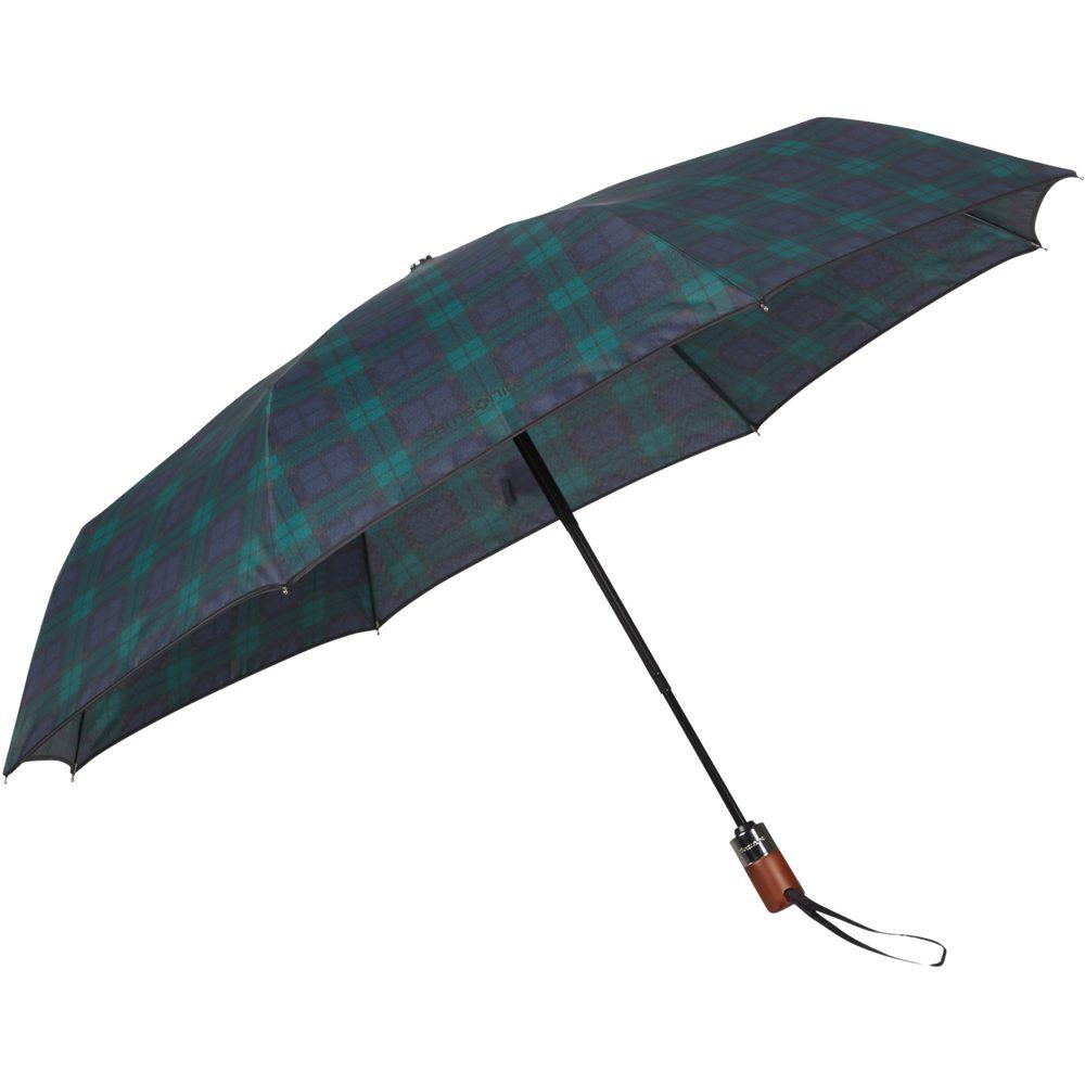 Samsonite Skládací automatický deštník Wood Classic S Short - zelená