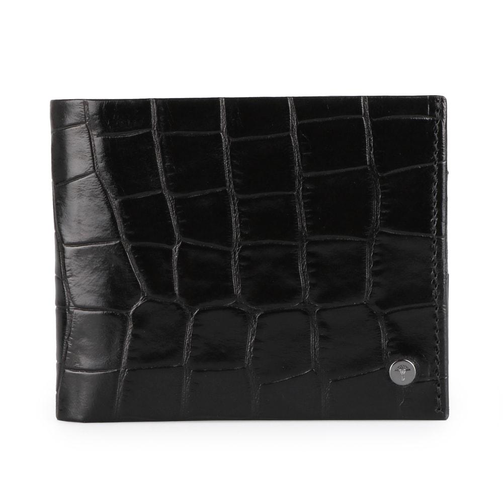 JOOP! Pánská kožená peněženka Typhon Crocco 4140002277 - černá