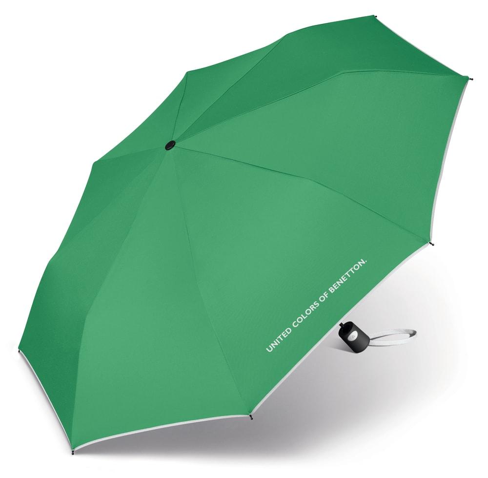 United Colors of Benetton Skládací poloautomatický deštník 56600 - zelená