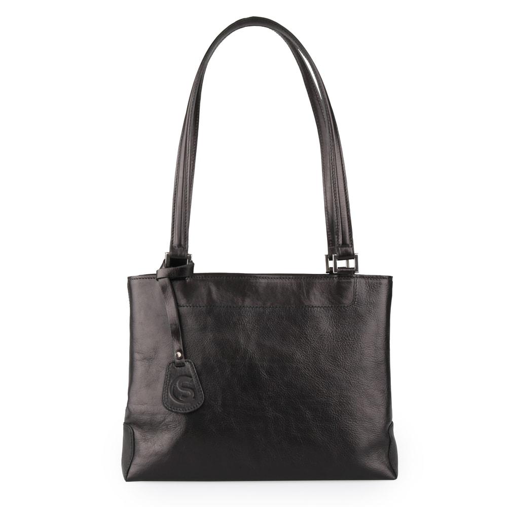 Sněžka Náchod Dámská elegantní kožená kabelka 1083 - černá