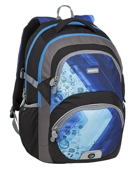 Bagmaster Školní batoh THEORY 9 D BLUE/BLACK/GRAY 24 l