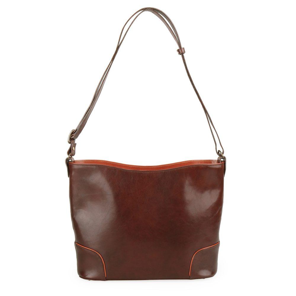 Hajn Dámská kožená kabelka 1269015 - hnědá-světle hnědá