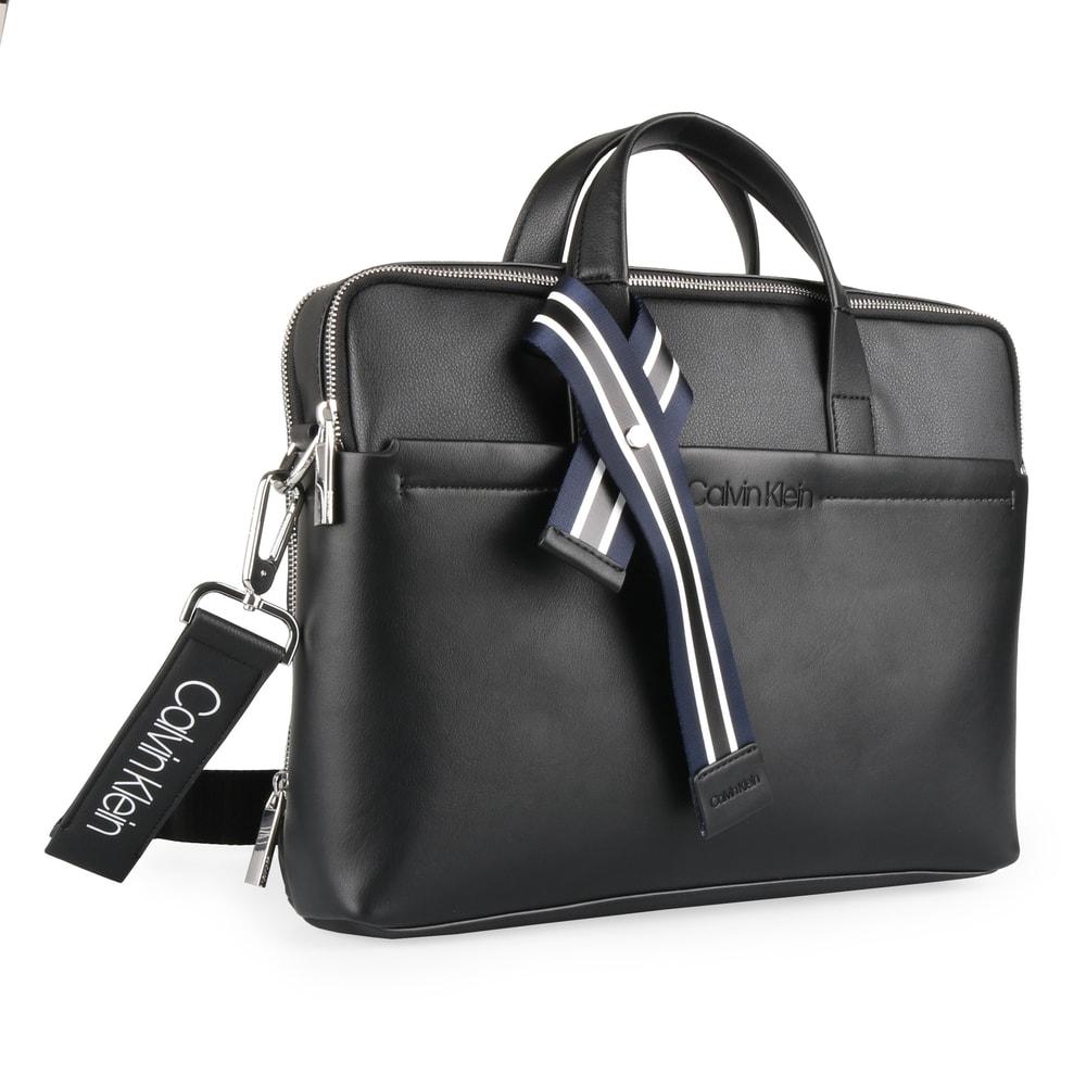 Calvin Klein Pánská taška na notebook Flex 2 Gusset K50K504387 - černá