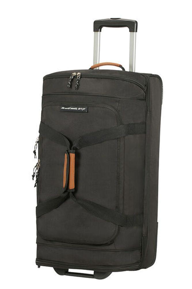American Tourister Látková cestovní taška na kolečkách Alltrail M 75,5 l - černá