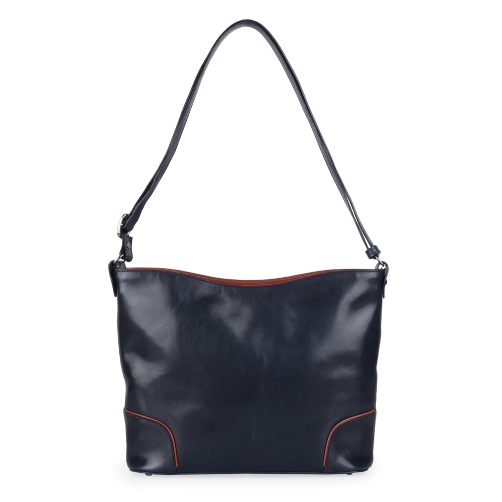 Hajn Dámská kožená kabelka 1269015 - modro-hnědá