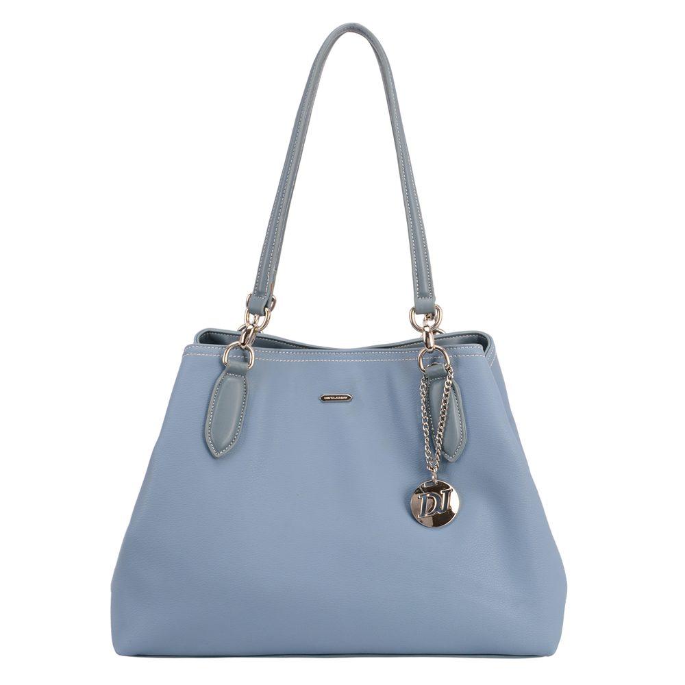 David Jones Paris Dámská kabelka přes rameno CM5644 - světle modrá