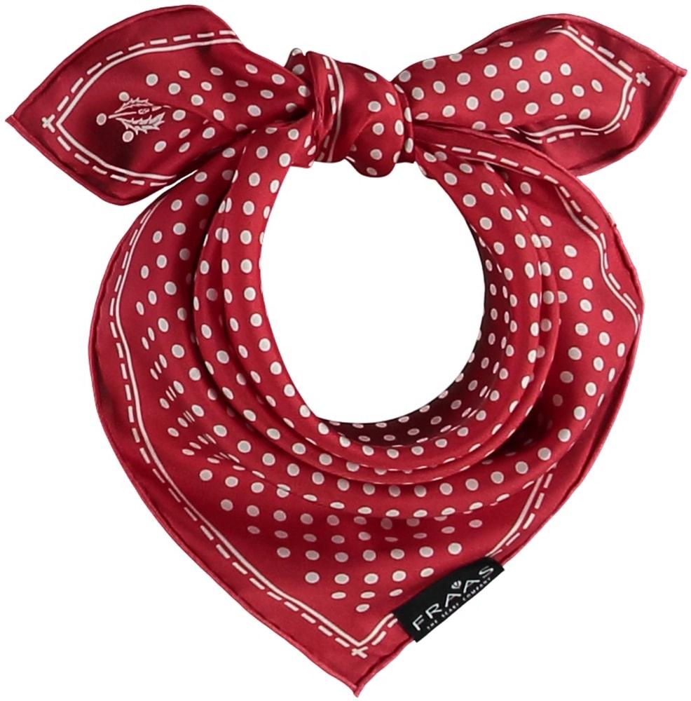 Fraas Dámský hedvábný čtvercový šátek 612168 - červená