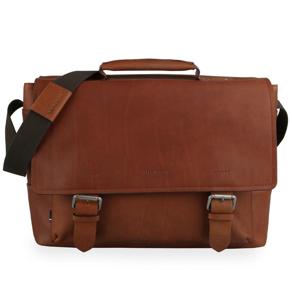 Strellson Pánská kožená taška přes rameno Turnham 2 4010002582 - hnědá