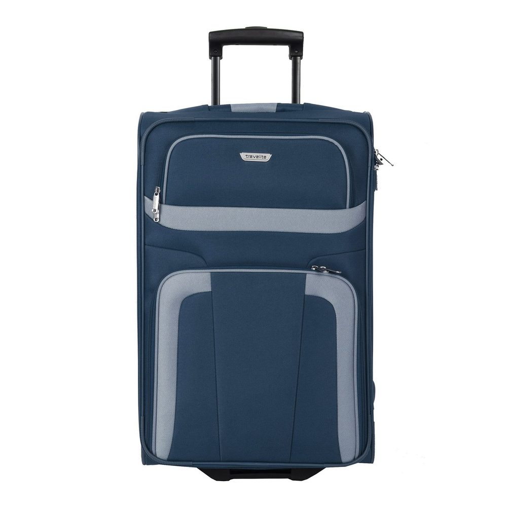 Travelite Látkový cestovní kufr Orlando M Navy 58 l