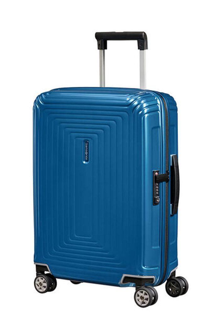 Samsonite Kabinový cestovní kufr Neopulse Spinner 38 l - lesklá modrá