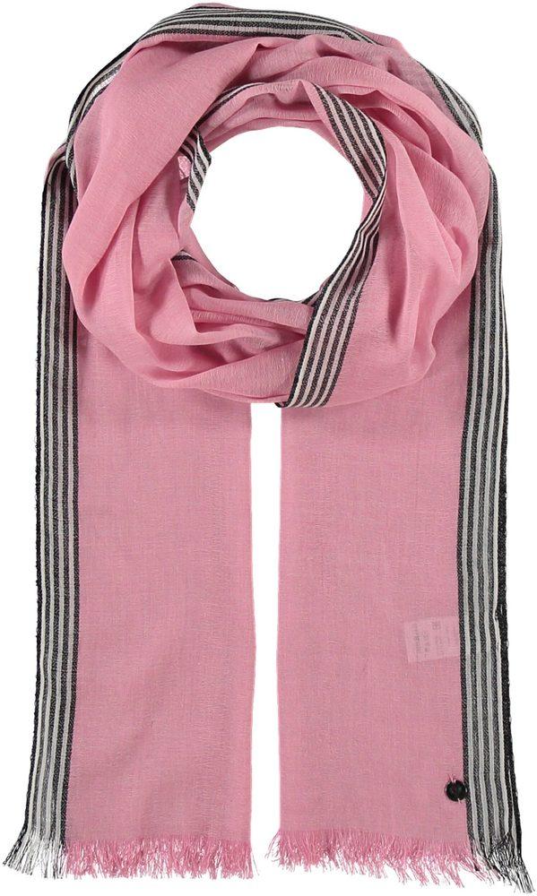 Fraas Dámský obdélníkový bavlněný šátek 623884 - růžová