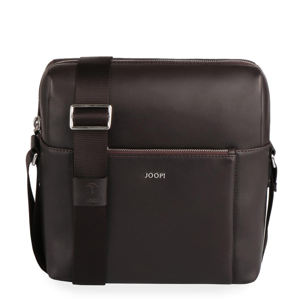 JOOP! Pánská kožená taška přes rameno Yannis 4140004469 - tmavě hnědá