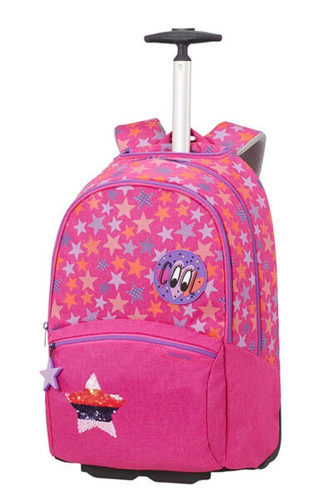 Samsonite Školní batoh na kolečkách Color Funtime 26 l - růžová
