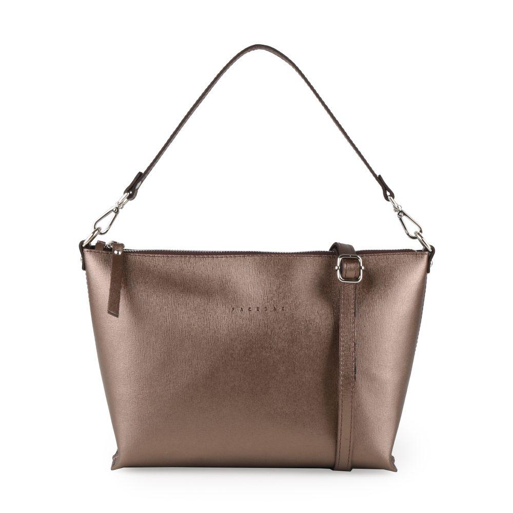 Unidax Dámská kožená kabelka přes rameno Facebag Rachel 8002 - bronzová