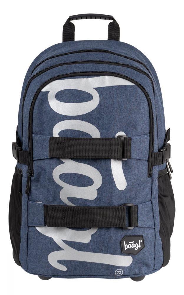 BAAGL Školní batoh Skate Blue 29 l - modrá