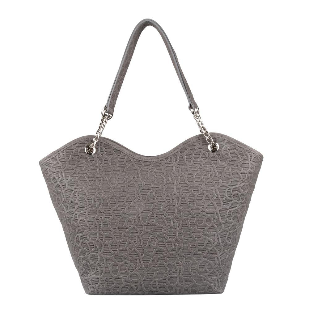 Elega Dámská kožená kabelka přes rameno Dorothy 69396 - šedá