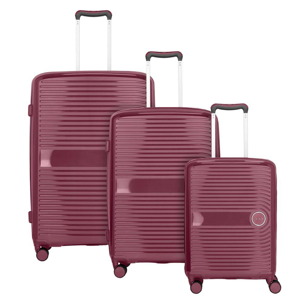 Travelite Sada cestovních kufrů Ceris S + M + L Blackberry