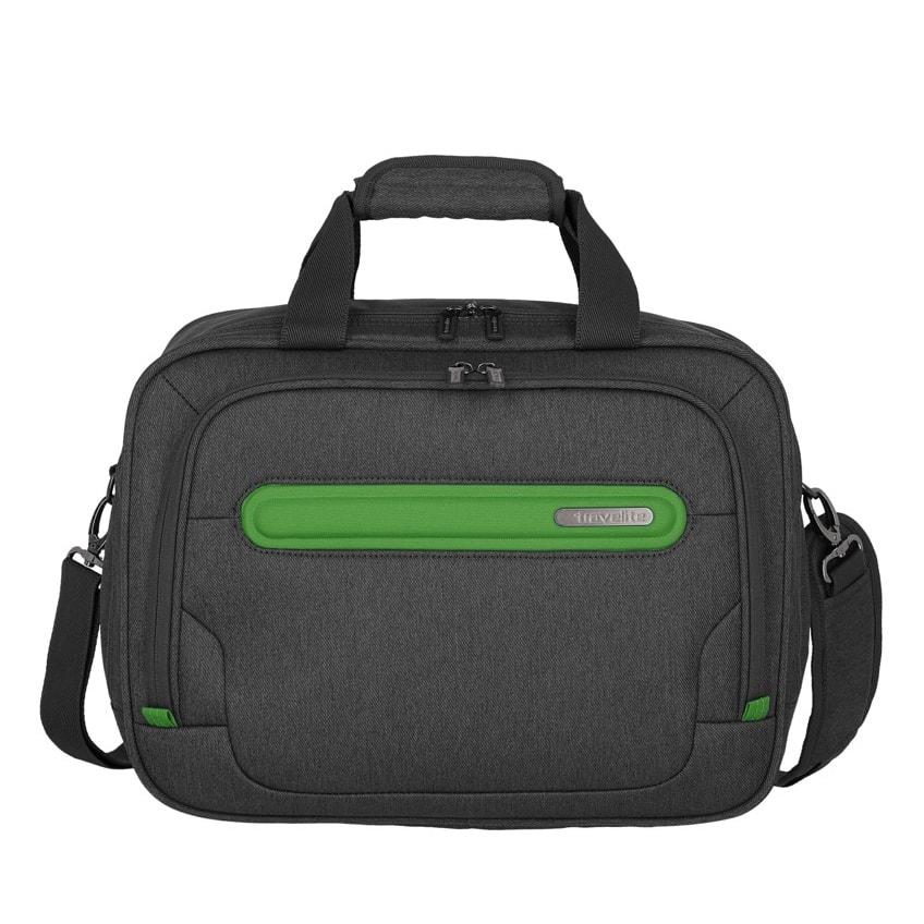 Travelite Palubní taška Madeira Boardbag Anthracite/Green 19 l