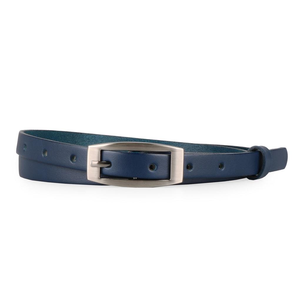 Penny Belts Dámský úzký kožený opasek 15-2-56 tmavě modrý - 100