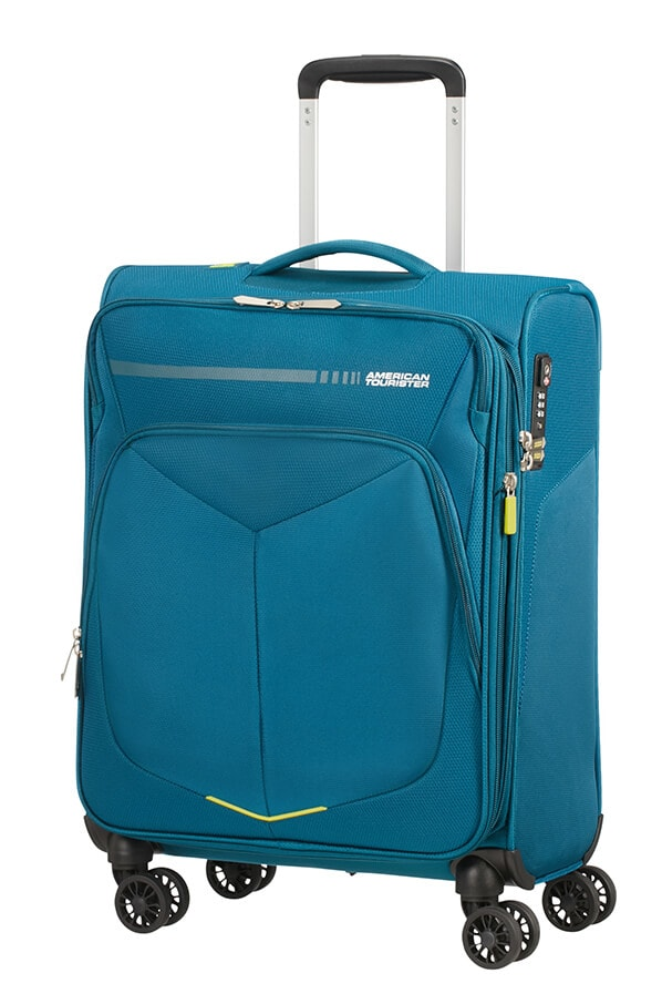 American Tourister Kabinový cestovní kufr Summerfunk Spinner 55/20 EXP TSA - modrá