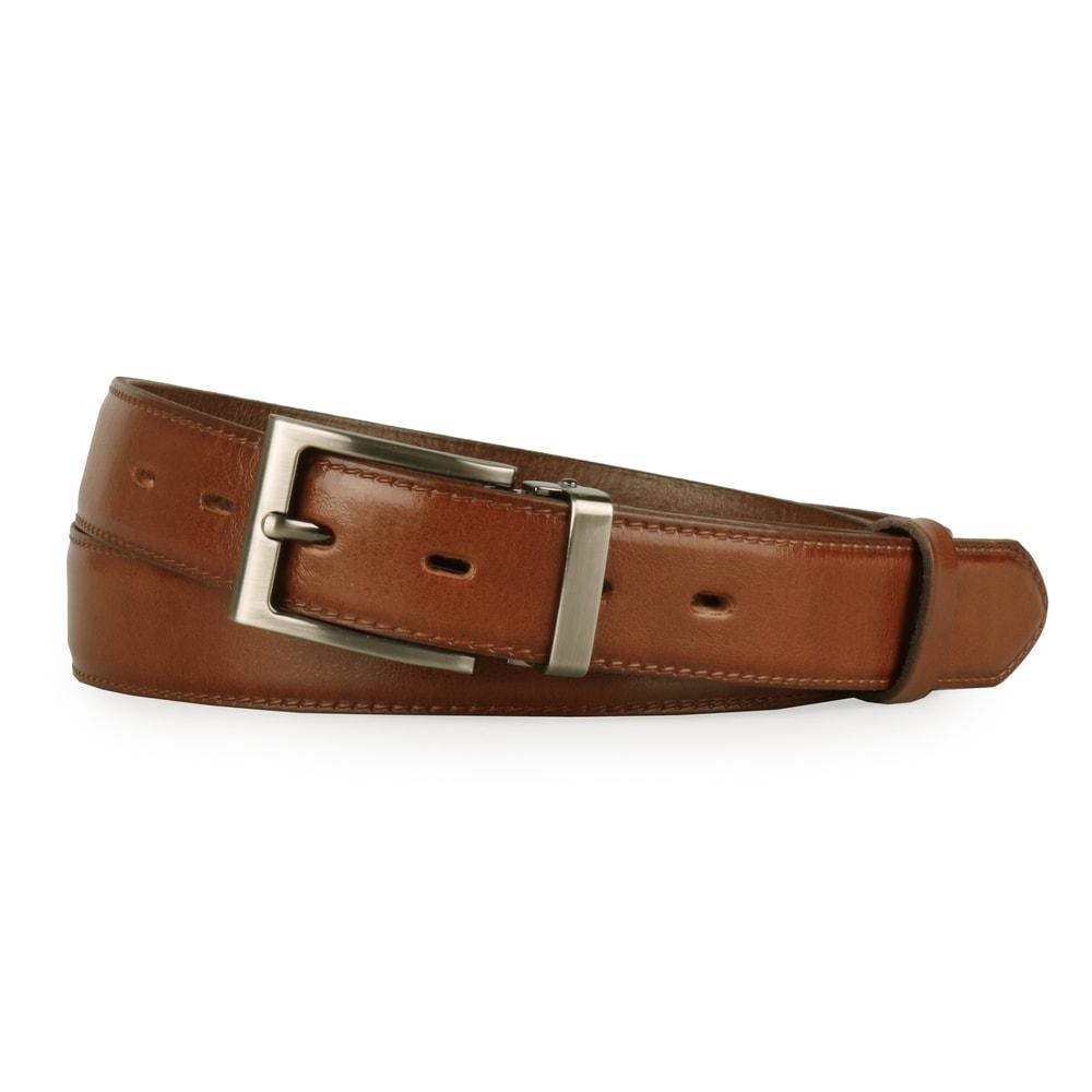 Penny Belts Pánský kožený společenský opasek 30-020-4-48 hnědý - 100