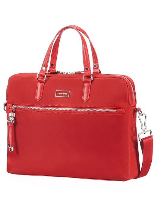 """Samsonite Dámská taška na notebook Bailhandle Karissa Biz 15.6"""" - červená"""