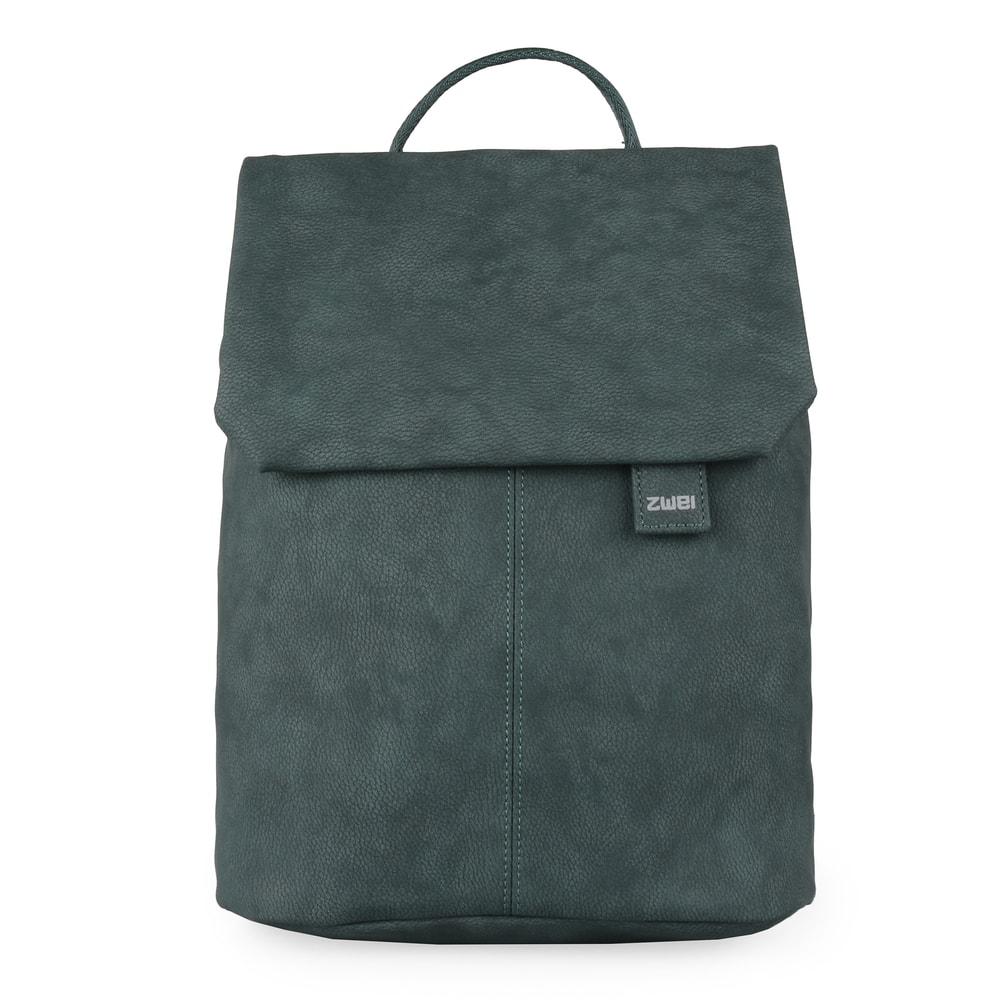 Zwei Dámský batoh Mademoiselle Nubuk MR13 - petrolejová - tmavě zelený