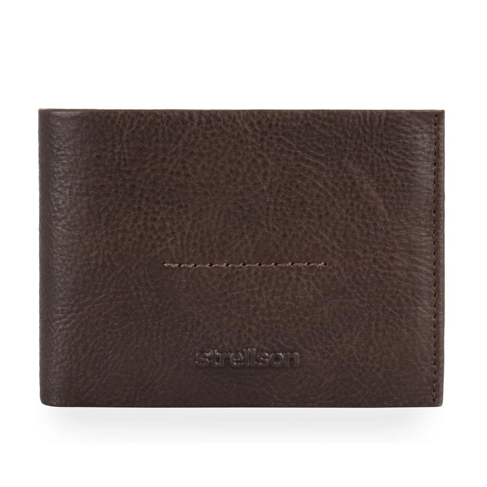 Strellson Pánská kožená peněženka Coleman 2.0 4010002550 - tmavě hnědá