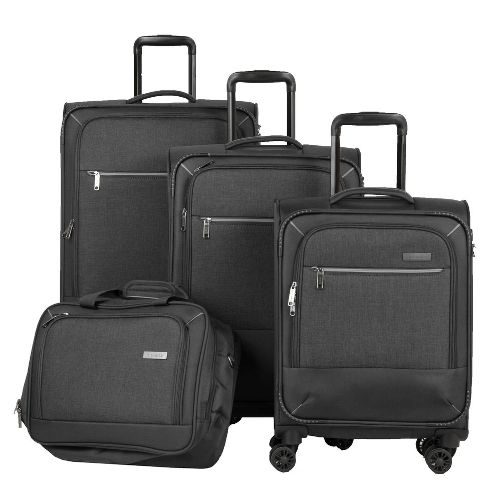 Travelite Sada cestovních kufrů a palubní tašky Arona S + M + L Anthracite
