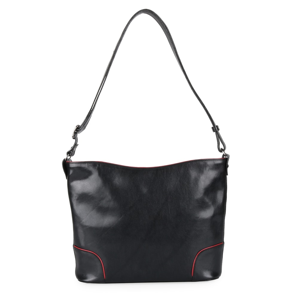 Hajn Dámská kožená kabelka 1269015 - černo-červená