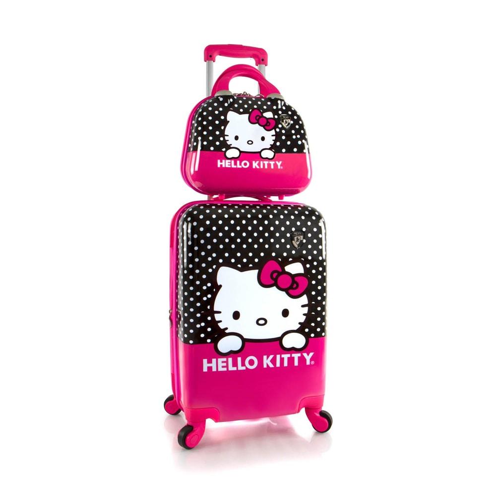 Heys Sada kabinového kufru a kosmetické tašky Kids Hello Kitty 40 l