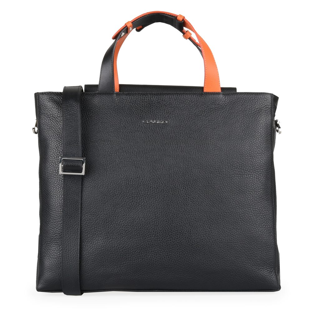GALKO Dámská kožená kabelka na notebook 15,6\'\' 13-0565 - černá