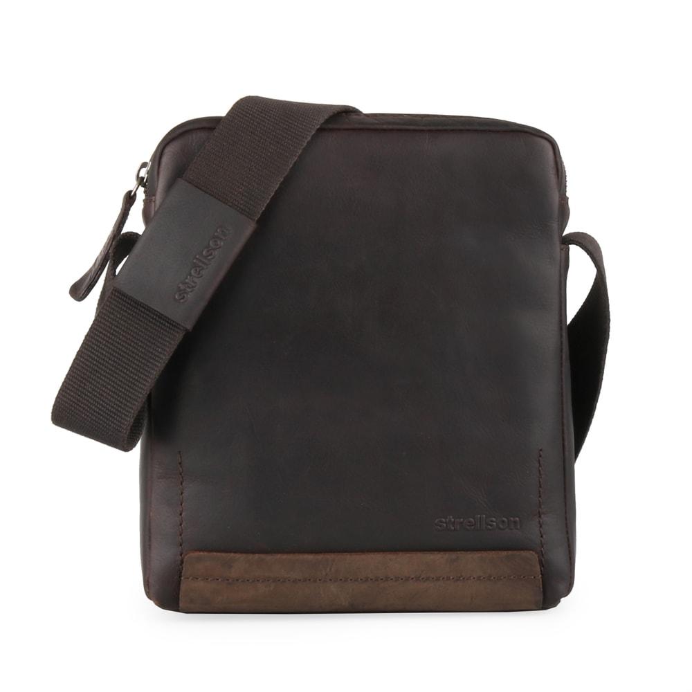 Strellson Pánská kožená taška přes rameno Camden 4010002283