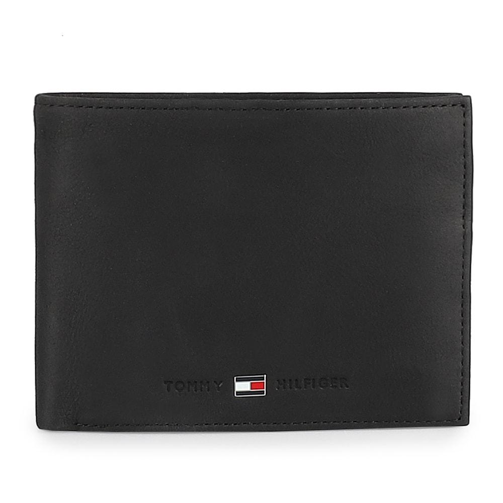Tommy Hilfiger Pánská kožená peněženka Johnson Trifold AM0AM00665 - černá