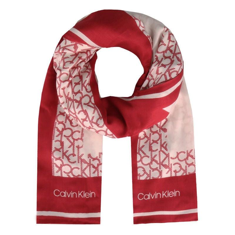 Calvin Klein Dámský obdélníkový šátek Geo Quilt K60K605145 - červená