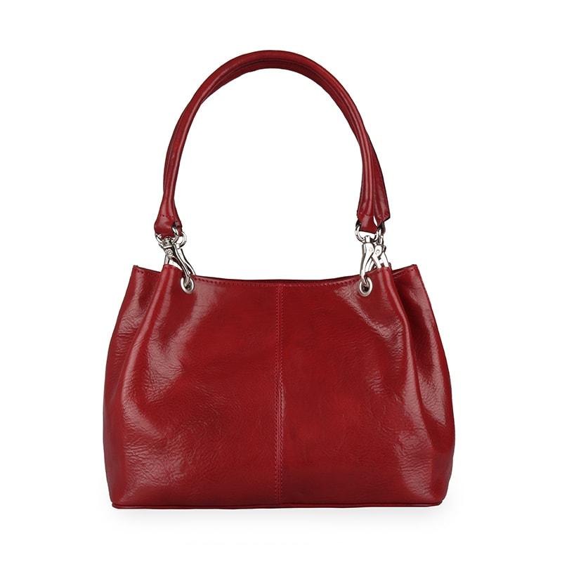Sněžka Náchod Dámská kožená kabelka 4807 - červená