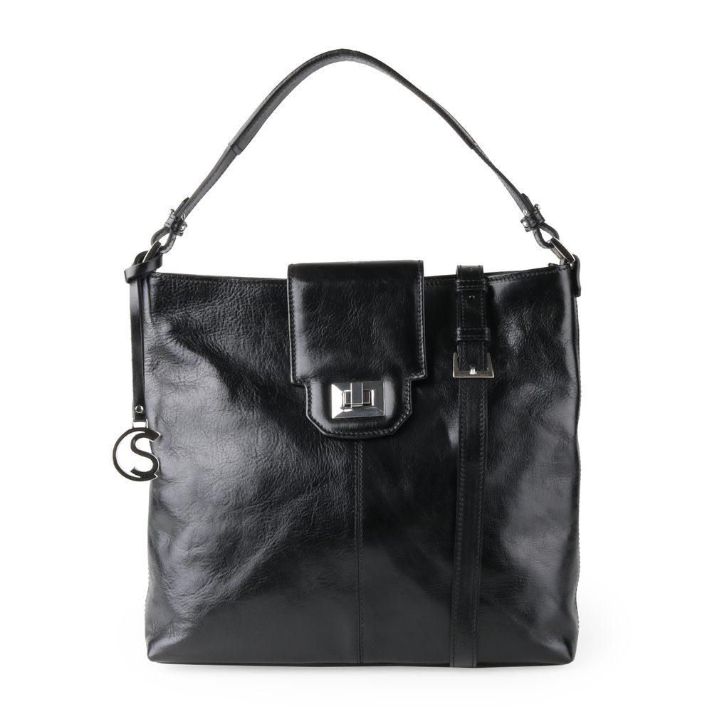 Sněžka Náchod Dámská kožená kabelka přes rameno 5105 - černá