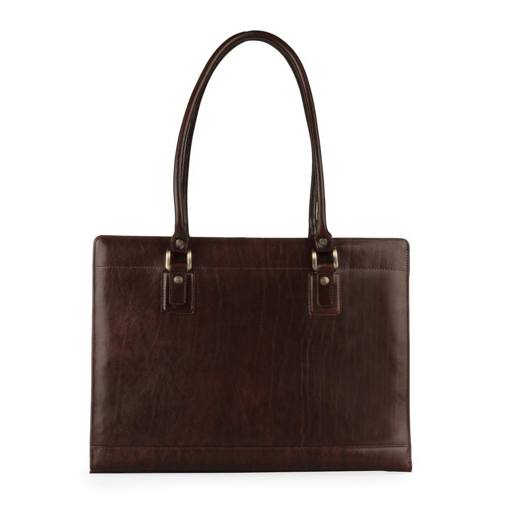 Hajn Dámská kožená kabelka přes rameno 1299214 hnědá
