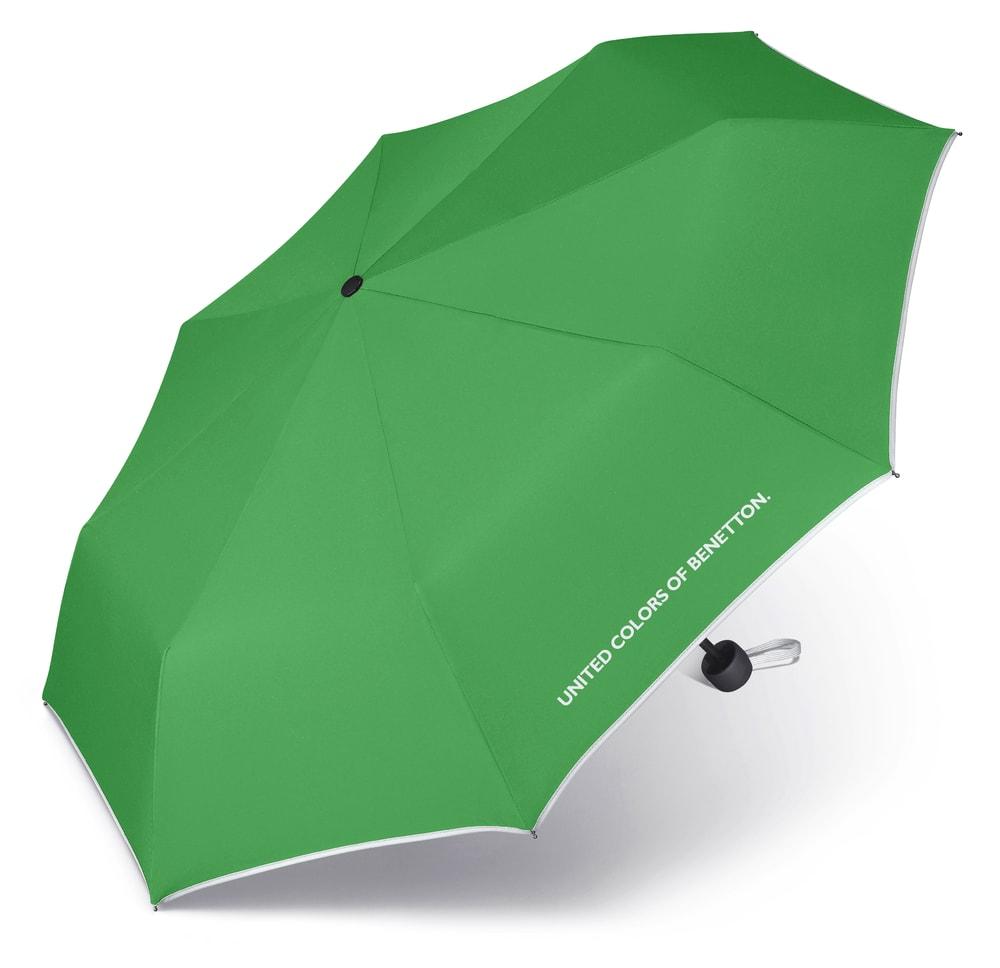 United Colors of Benetton Skládací deštník 56200 - zelená