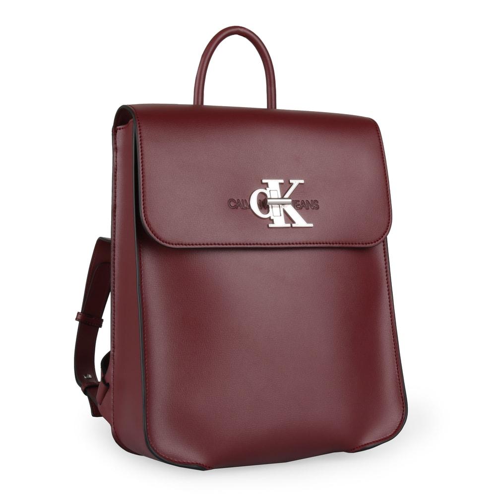 Calvin Klein Dámský batoh CKJ Monogram K60K605787 - vínová