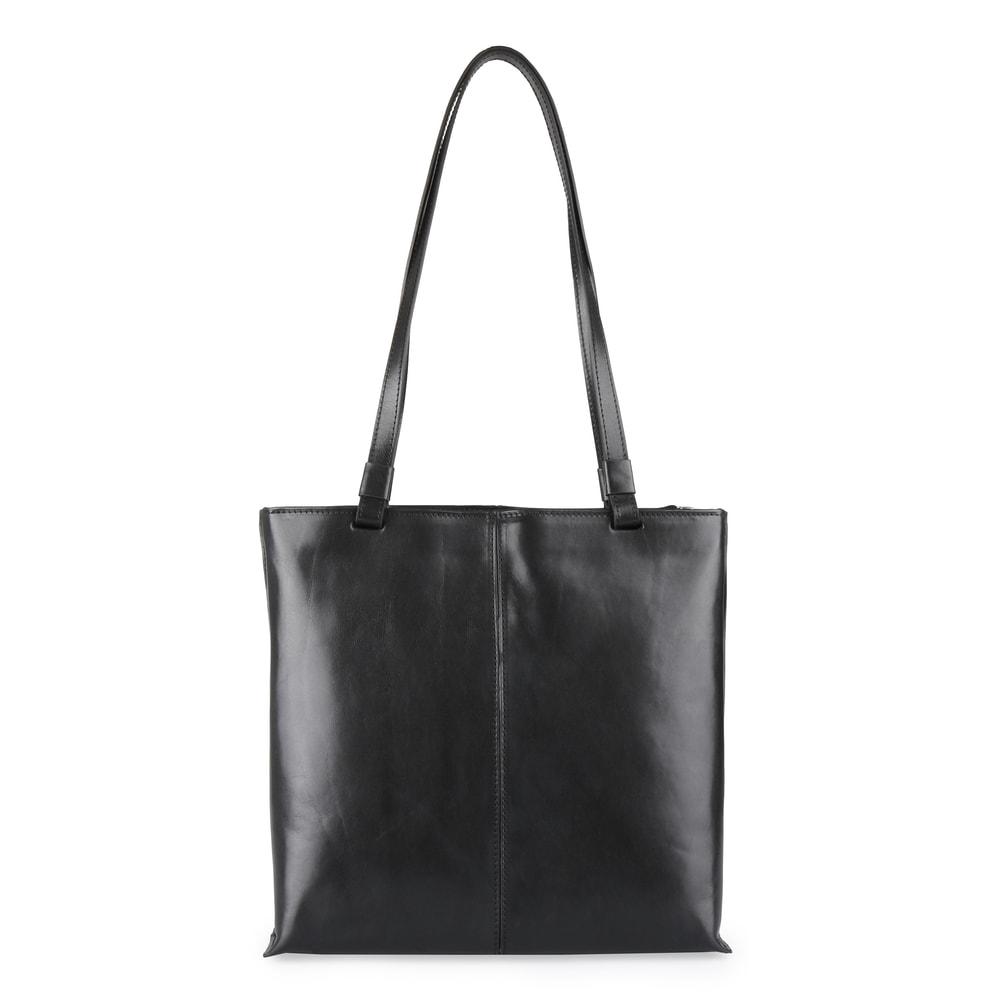 Elega Dámská kožená kabelka přes rameno 67905 - černá